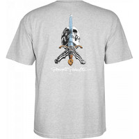 Powell Peralta Skull & Sword T-Shirt - Grey