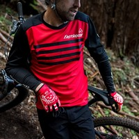 Fasthouse® Alloy Stripe LS Jersey - Red