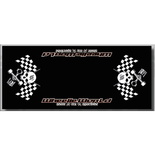 Wheelie World Bikemat 95x220 - Black/White