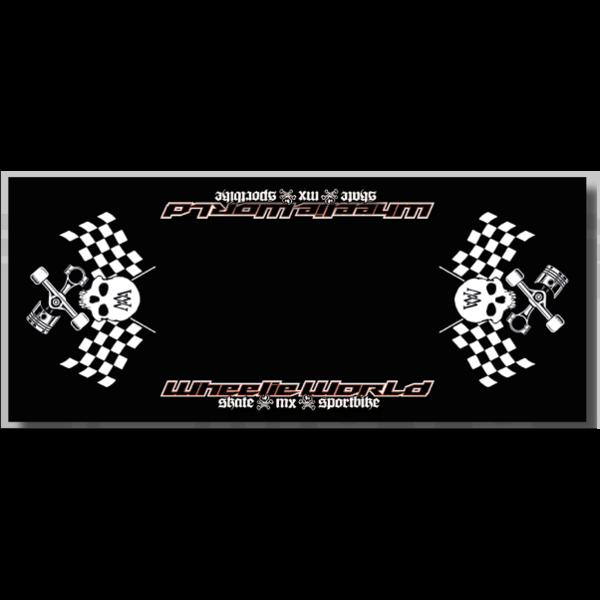 Wheelie World Bikemat 95x220 - Black/White