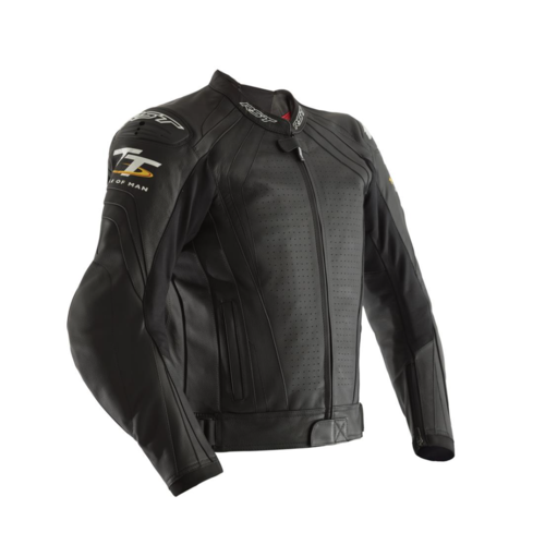 RST Isle Of Man TT Grandstand Leather Jacket - Black