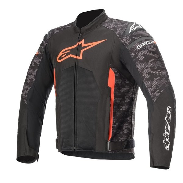 Alpinestars T-Gp Plus R V3 Air Jacket - Black/Camo/Red Fluo