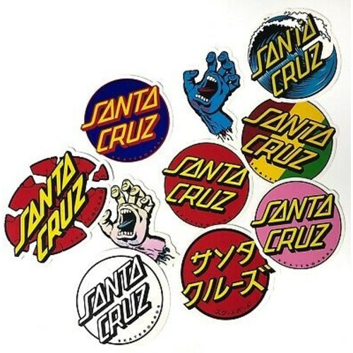 Santa Cruz Assorted Stickers 10 pack