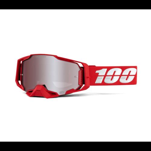 100% Armega - War Red/Silver Mirror