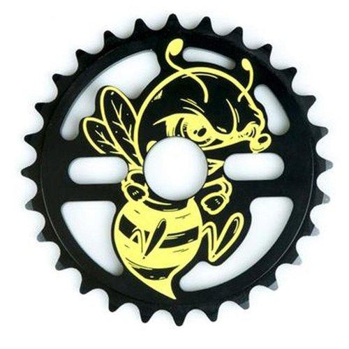 Total Bmx Killabee Sprocket Black/Yellow 28T