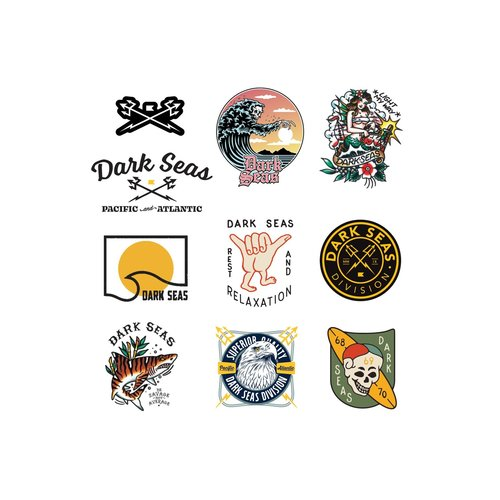 Dark Seas Sticker Pack - 15PK