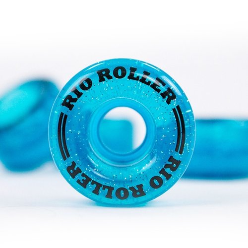 Rio Roller® Light-Up Wheels - Glitter Blue 58mm