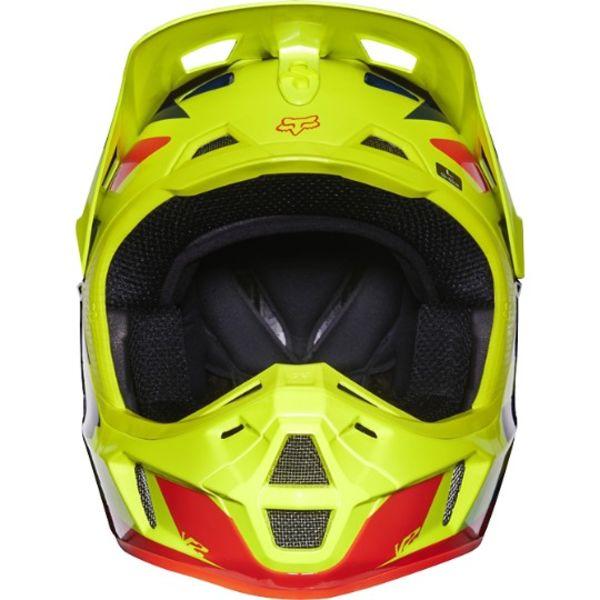Fox V2 Race Helmet Blue/Yellow