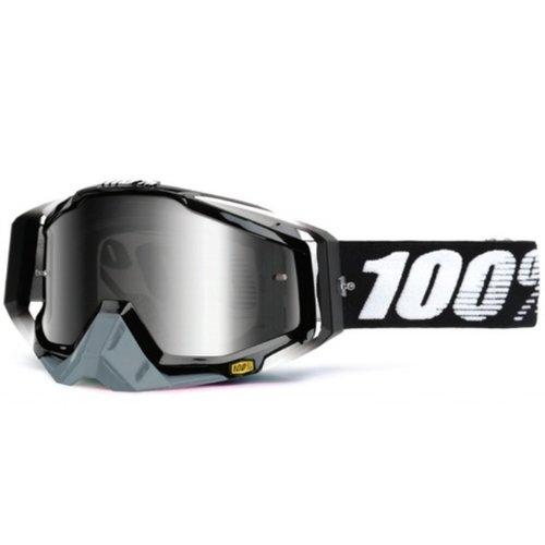 100% Mx Goggle Abyss Black/Mirror/Silver