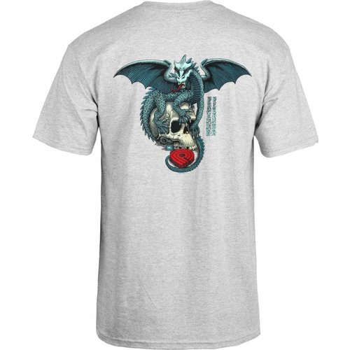 Powell Peralta Dragon Skull T-shirt Grey