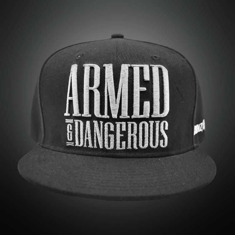 Gunz For Hire - Armed & Dangerous (White) Snapback