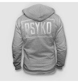 Psyko Grey Zipped Hoody