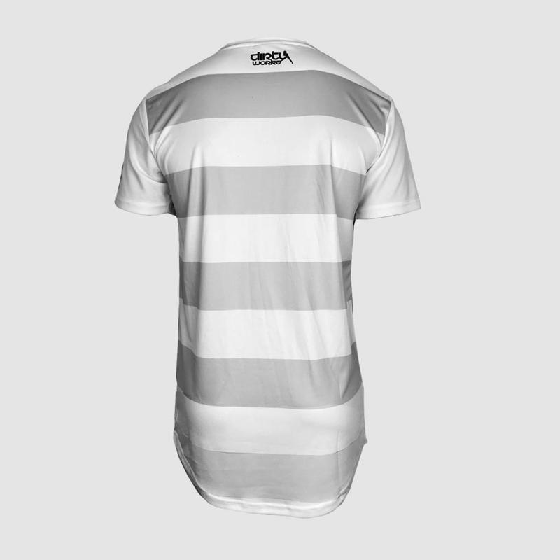 Dirty Workz - White / Grey Soccer Shirt