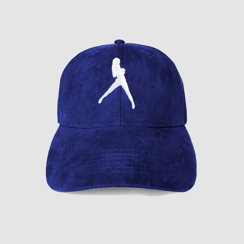 DIRTY WOKRZ - ICONIC BLUE SUEDE CAP