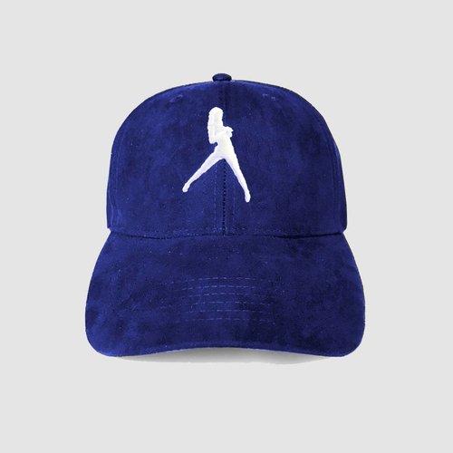 DIRTY WOKRZ - ICONIC BLUE SUEDE CAP