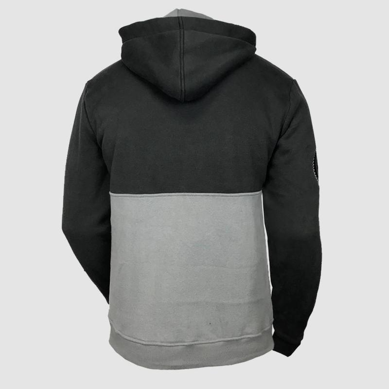 Dirty Workz - Anthracite & Grey Half Zipped Sweater