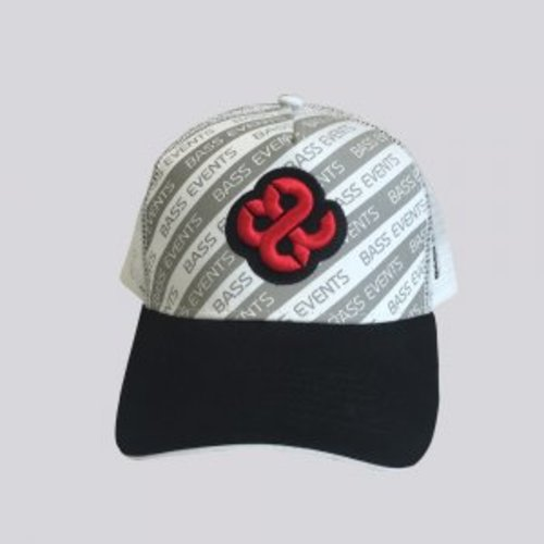 Bass Events White Striped Trucker Cap