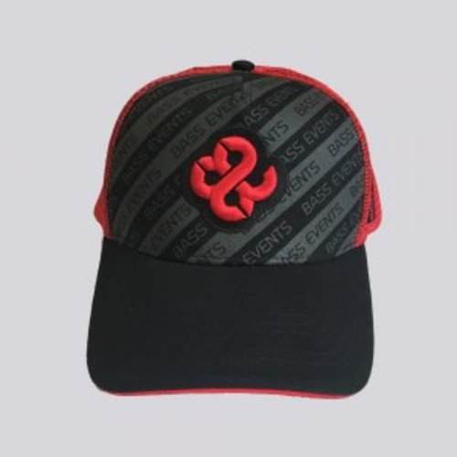 Bass Events Black Striped Trucker Cap