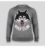 Wolf Clan Heather Grey Crewneck