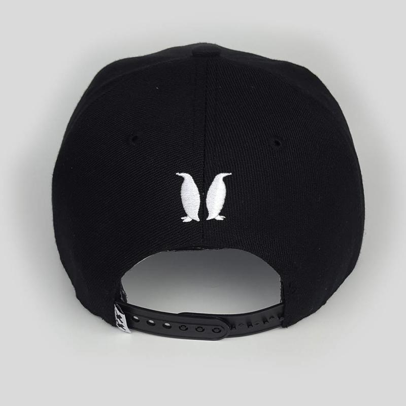 Wasted Penguinz - Black/White Snapback
