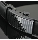 LEDEREN RIEM zonder gaatjes, met automatische gesp (model 42)