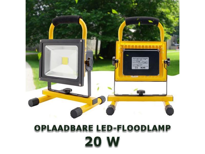 OPLAADBARE LED-BOUWLAMP 20W voorziet u van licht op de werkvloer