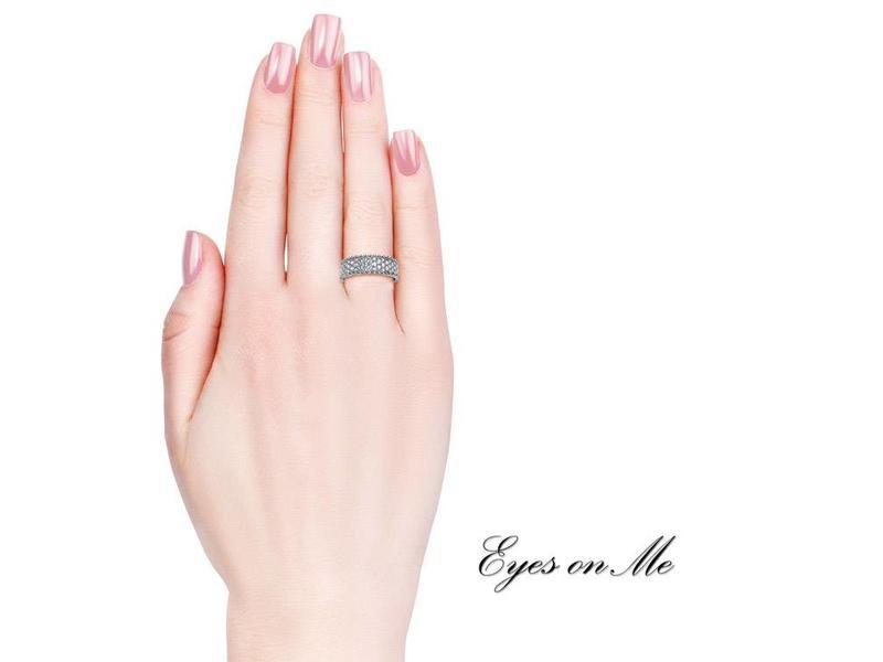 """""""Eyes on Me"""" witgoud vergulde ring met SWAROVSKI elements  (model R0020-WG)"""
