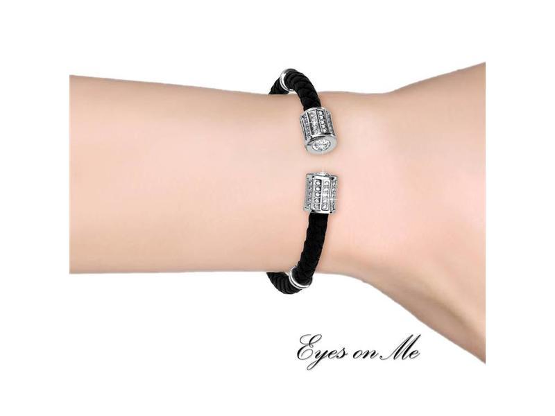 """""""Eyes on Me"""" witgoud vergulde armband met SWAROVSKI elements  (model B0032-WG)"""
