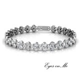 """Eyes on Me"" witgoud vergulde armband met SWAROVSKI elements  (model B0033-WG)"