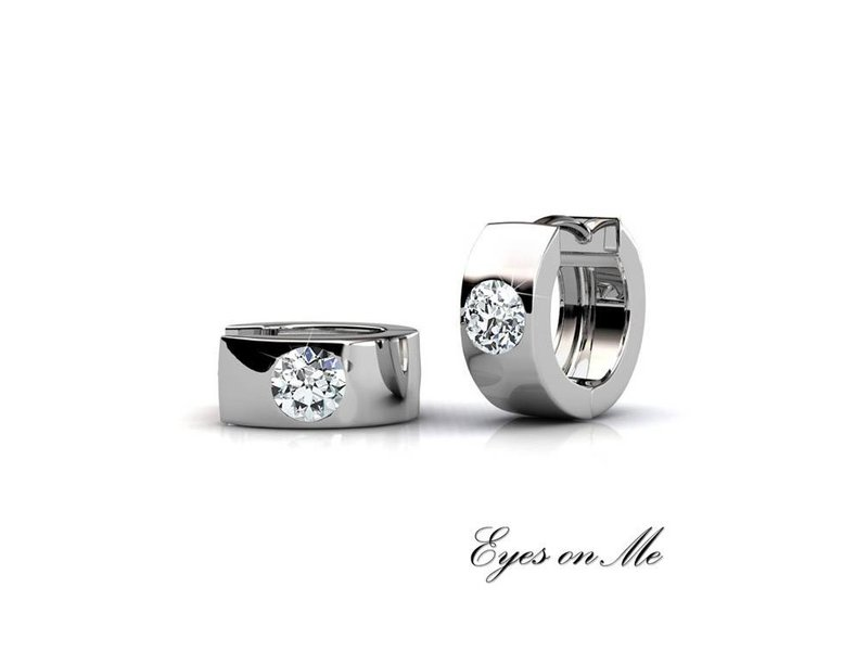 """Eyes on Me"" met witgoud vergulde set oorringen met SWAROVSKI elements"