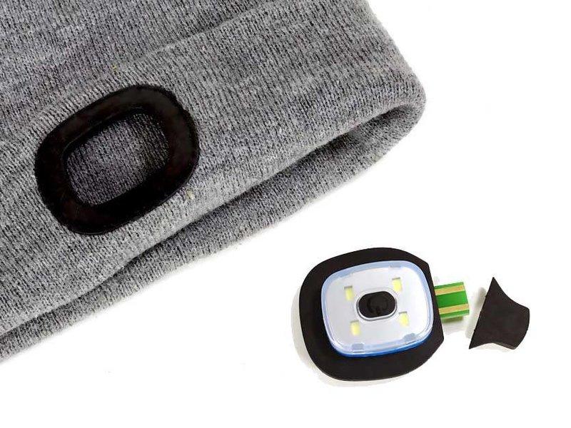 BEANIE MUTS met herlaadbare LED's voor- en achteraan