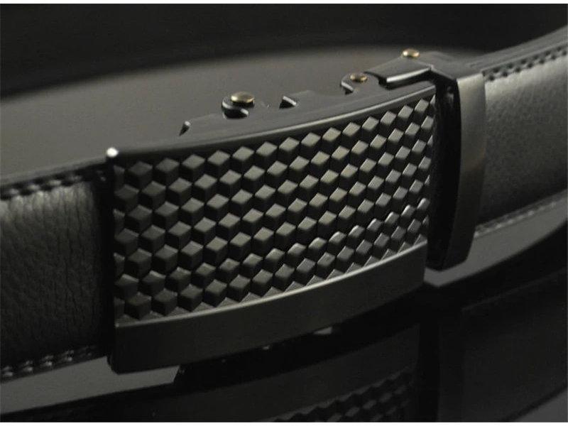 LEDEREN RIEM zonder gaatjes, met automatische gesp ( model L046 )