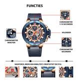 NAVIFORCE Digitaal uurwerk voor heren, Model 9159