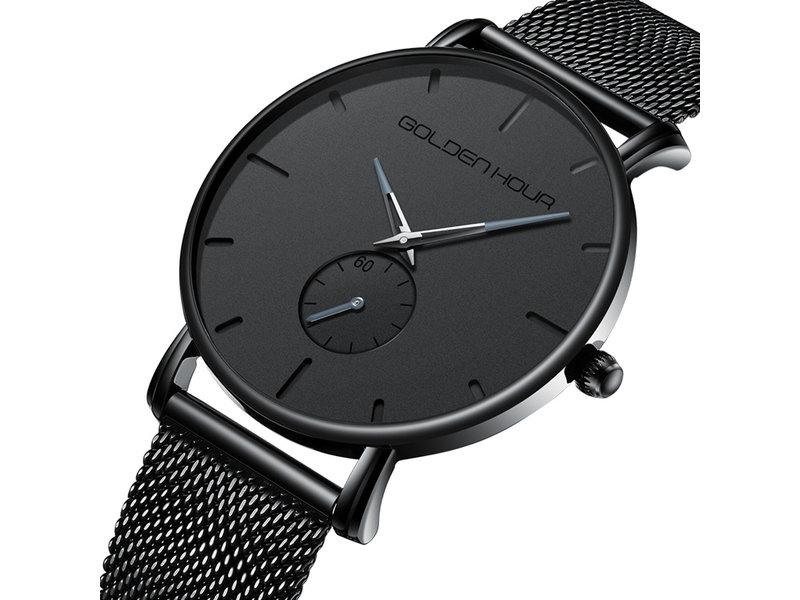 Spring in het oog met dit mooi, elegant en klassevol quartz uurwerk voor mannen.