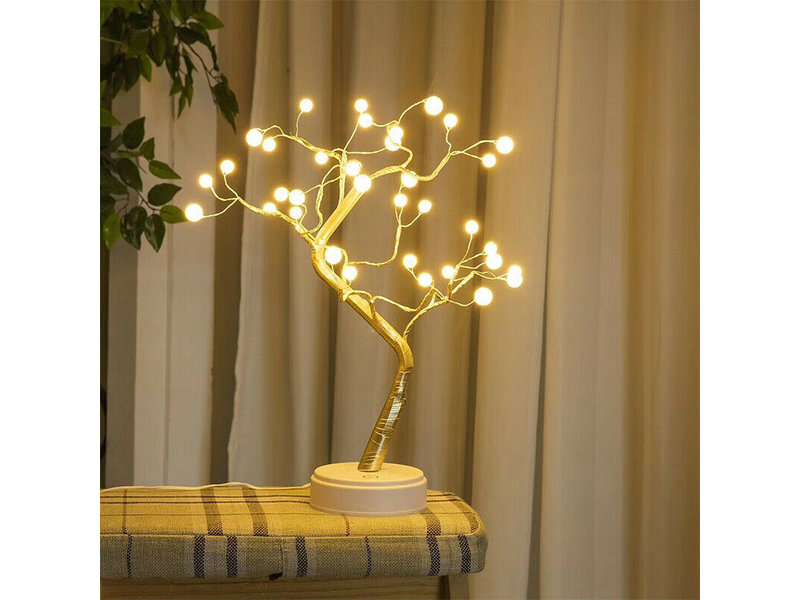 Parel Led Bonsai boom met 36 led lampjes, magisch en betoverend mooi