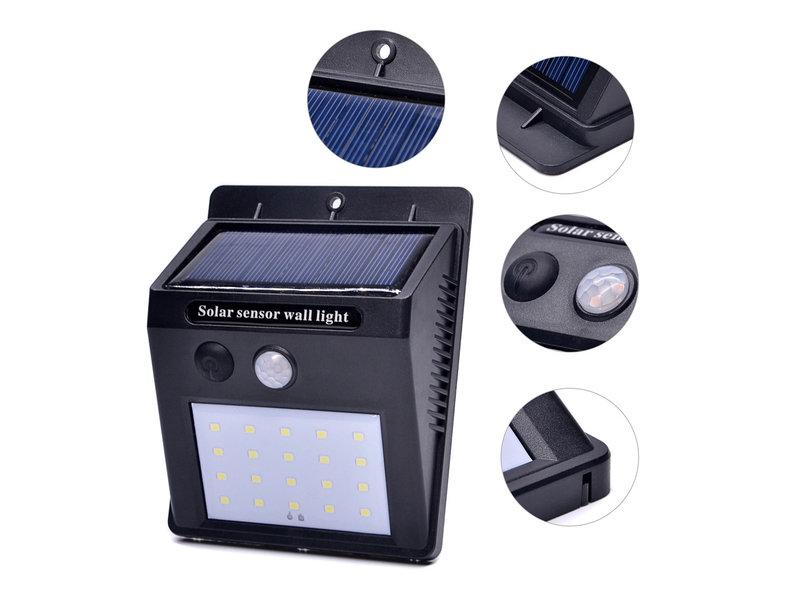 LED BUITENLAMP op zonne-energie en met bewegingssensor