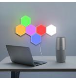 Zeshoekige modulair opbouwbare set LED aanraaklampen