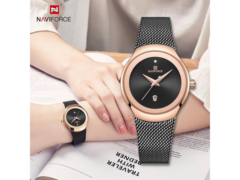 Prachtig NAVIFORCE uurwerk voor dames met stijl ( Model 5004)
