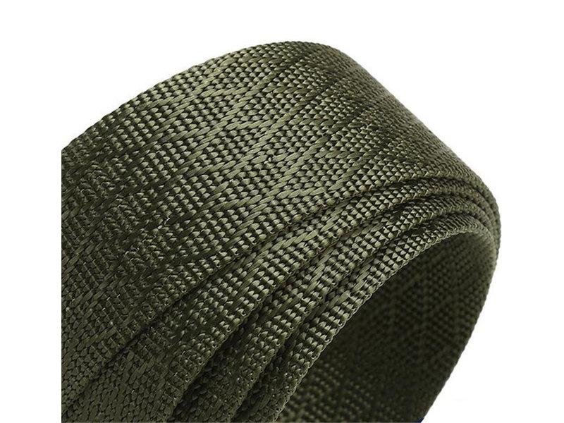 Gewoven canvas riem zonder gaatjes voor heren ( Model LQ1 )