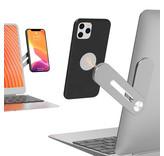 Magnetische multifunctionele  laptop en pc telefoonhouder in aluminium