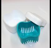 Opbergdoosje met zeefje voor tandprotheses