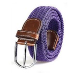 Set van 3 stijlvolle gevlochten stretch riemen, steeds de gepaste lengte