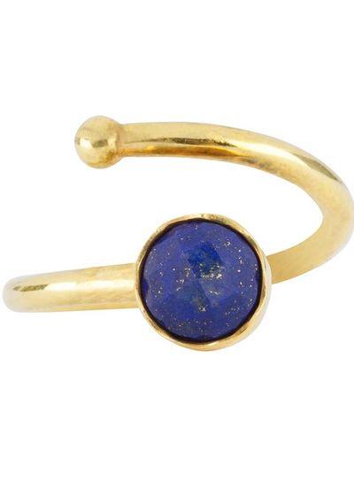 Marissa Eykenloof Gouden ring met Lapis Lazuli voor kinderen