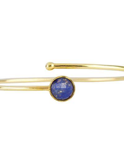 Marissa Eykenloof Gouden armband met Lapis lazuli kinderen