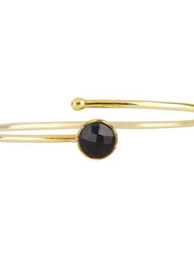 Marissa Eykenloof Gouden armband met Zwarte Onyx kinderen