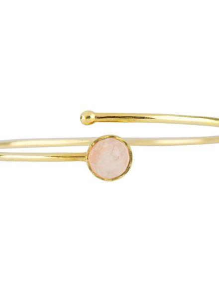 Marissa Eykenloof Gouden armband met Regenboog maansteen kinderen