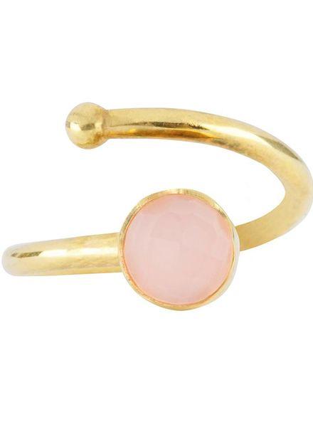 Marissa Eykenloof Gold ring Rose Quartz kids