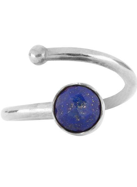 Marissa Eykenloof Zilveren ring met Lapis Lazuli voor kinderen