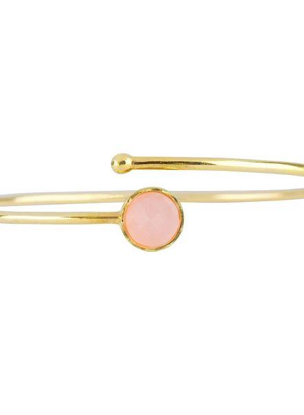 Marissa Eykenloof Gold bracelet Rose Quartz kids