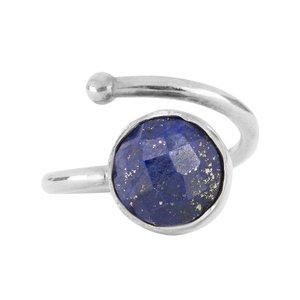 Marissa Eykenloof Zilveren ring met Lapis Lazuli